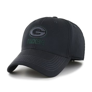 Green Bay Packers Black Out Football Hat