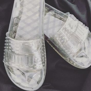 Puma Fenty Rihanna Slides Crystal Shoes Female Slippers-2