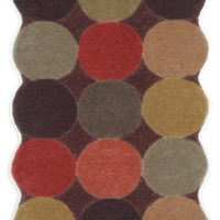 "Circles Teak 24"" x 8' Indoor Rug"