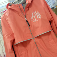 Monogram Rain Jacket  Font Shown  MASTER CIRCLE