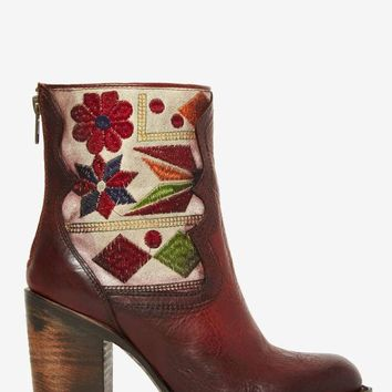 Freebird Hendrix Leather Tapestry Boot - Brown