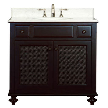 Water Creation LONDON 36 London Espresso  Single Sink 36-Inch Bathroom Vanity