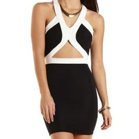 Ribbed Bodycon Dress with Cut-Out by Charlotte Russe