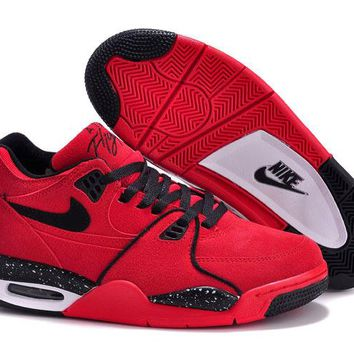Nike Air Flight '89 Red Suede Gym Red/black-white 306252-600 - Beauty Ticks