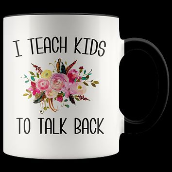 Speech Therapist Gifts SLP Mug Thank You Gift for Speech Language Pathologist SLP Therapy Floral Coffee Cup