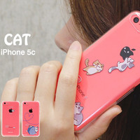 Strapya World : Niconico Nekomura Cat Clear Case For iPhone 5c (Woollen Ball)