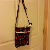 Cross body bag/ hipster purse/purse with pockets/made by me using Dr. Who fabric