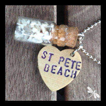 St. Pete Beach Florida in a Bottle with Love