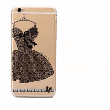 Pretty Little Black Lace Dress Case for iPhone