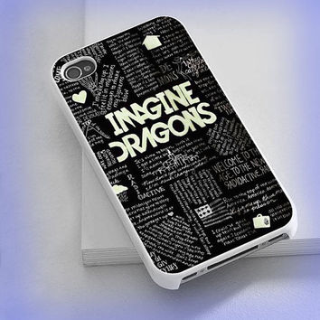 Cover phone case Imagine Dragons Lyric for iPhone 4/4s, iPhone 5/5s/5c, iPod 4/5, Samsung Galaxy s3/s4