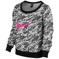 Nike Club Crew AOP Swoosh - Women's at Lady Foot Locker