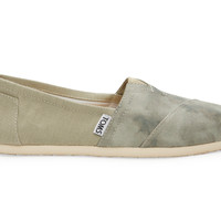 TOMS Agate Green Washed Canvas Women's Classics Green