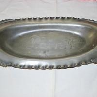 Oval Bread Silver Plate , 851 Meriden Silver Company , French Pewter Serving Plate