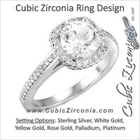 Cubic Zirconia Engagement Ring- The Faile