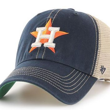 Men's Houston Astros Trawler Adjustable Trucker Hat By '47 Brand