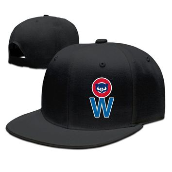 Chicago Cubs W Cotton Unisex Adult Womens Hip-hop Cap Mens Fitted Hats