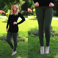 Soft to the Touch Leggings in Olive
