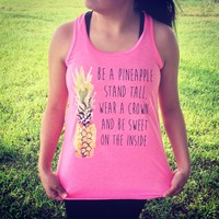 """Be a Pineapple"" flowy tank from PeaceLove&Jewels"