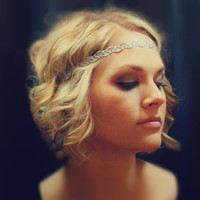 Metallic Gold or Silver Boho Headband