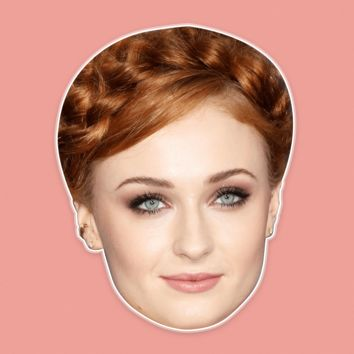 Serious Sophie Turner Mask - Perfect for Halloween, Costume Party Mask, Masquerades, Parties, Festivals, Concerts - Jumbo Size Waterproof Laminated Mask