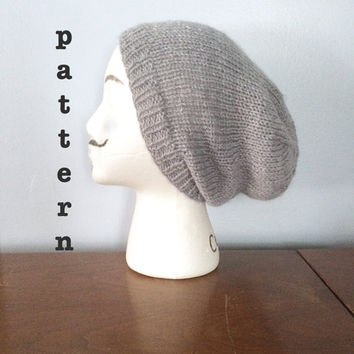 Pattern Knitted Slouchy Beanie Pattern From The Woolly Kraken