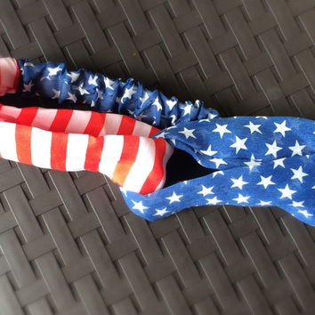 Turban Headband American Flag