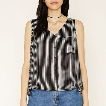 Striped Tulip-Back Tank Top