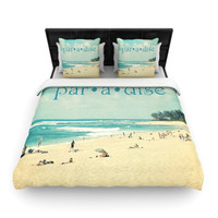 KESS InHouse Paradise by Sylvia Cook Woven Duvet Cover