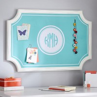 Scallop Framed Monogram Pinboard, Pool