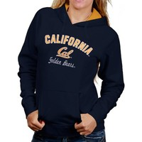 Cal Bears Ladies Titan Pullover Hoodie - Navy Blue