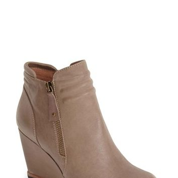 Women's Biala 'Ashton' Leather Wedge Ankle Bootie,