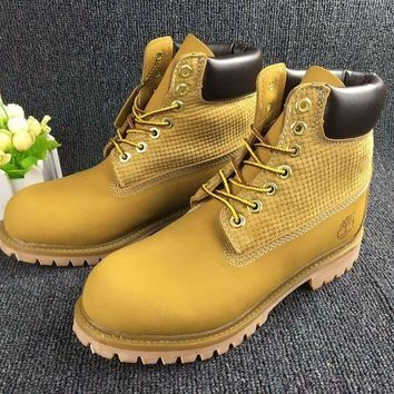 Timberland Rhubarb Boots Wheat color 2018 For Women Men Shoes Waterproof Martin Boots