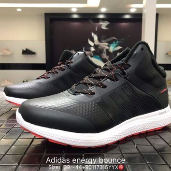 Adidas energy bounce leather breathable black Fashion Casual Sports Shoes 90117315YYX Best Goods