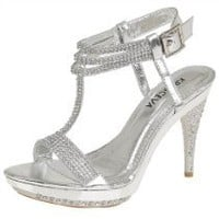 NEW LADIES WOMENS HIGH HEEL SILVER DIAMANTE PARTY EVENING PROM ANKLE STRAP SANDALS HEELS IN UK SIZES