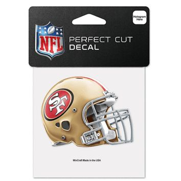 """SAN FRANCISCO 49ERS PERFECT CUT 4""""X4"""" DIE CUT DECAL NEW & OFFICIALLY LICENSED"""