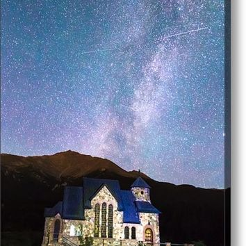 Perseid Meteor Shower And Chapel On The Rock Acrylic Print