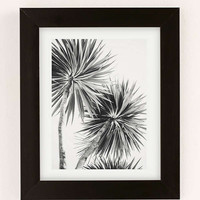 Kate Doherty Monochrome LA Palms Art Print | Urban Outfitters