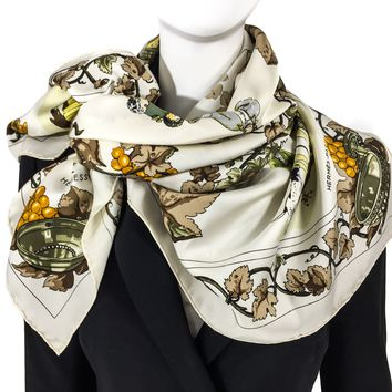 Hermes Silk Scarf Vendanges Hennessy RARE 1965 Special Issue
