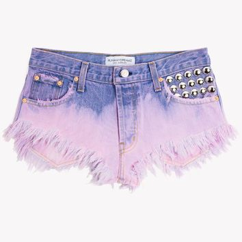450 BB Pink Ombre Drop Waist Cut Off Shorts