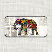 iPhone 5 Case, iPhone 5s Case, iPhone 5 Cover, iPhone 5s Cover, Hard iPhone Case, Colorful Elephant