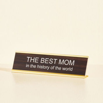 In Mother Words Desk Plaque | Mod Retro Vintage Desk Accessories | ModCloth.com