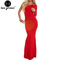 Women Dress Fashion Red Sexy Backless Lace Embroidery Trumpet Mermaid Slash Neck Princess Long Floor-Length Dresses