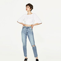 CROPPED TOP WITH BOW DETAILS