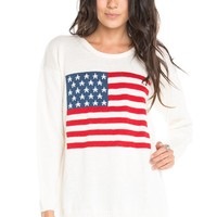 Brandy ♥ Melville |  Suzie American Flag Sweater - Knits - Clothing
