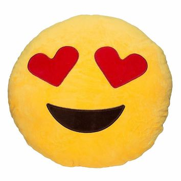 Funny  Christmas Gifts Emotion Smiley Pillow Soft Poo Bolster cushion Cotton Round Funny Pillow