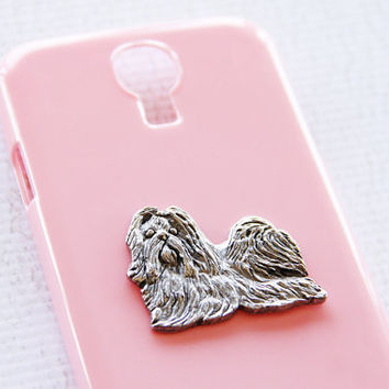 Shih Tzu Classic Silver Plated S4 Protective Pink Hard Cover Smart Phone Shell iPhone 6 Case
