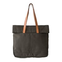 Canvas and Leather Fold Weekender Revised - Army - Army Canvas and Natural English Bridle