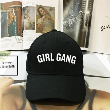 Girl Gang DAD hat - Baseball Cap, Local Girl Gang Feminist, Tumblr hat , Dad Hat Dad Cap Baseball Hat Baseball Cap , Low-Profile Blogger