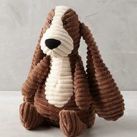 Corduroy Hound Stuffed Animal by Anthropologie in Brown Motif Size: One Size Gifts