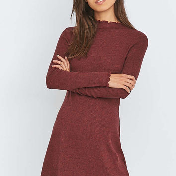 Pins & Needles Cosy Lettuce Edge Dress - Urban Outfitters